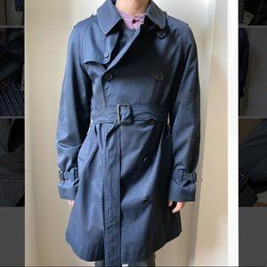 Navy Vintage Men's Burberry Trench Coat